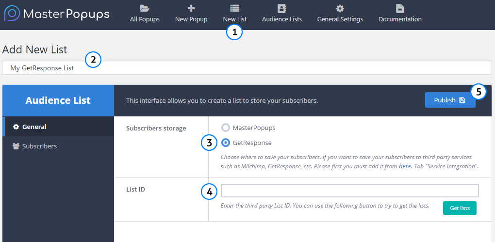 how to integrate master popups with getresponse \u2013 master popupssynchronize your popup with your audience list